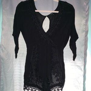 Black lace romper!